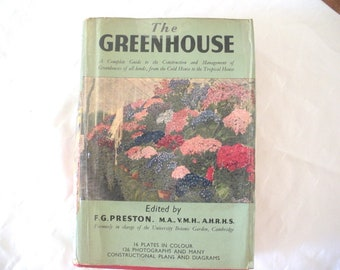 "Vintage gardening ""The Greenhouse"" by F.G. Preston"