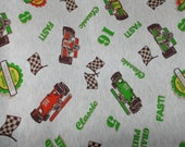 Close out Sale--At the Races cotton Jersry knit fabric by the yard