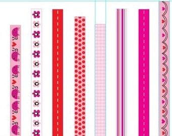 Valentine Ribbon Spools - Choose Pattern
