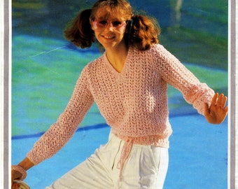 Knitting Pattern for Sweater Vintage Original 1980s