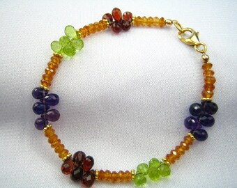 Golden Gems Stunning Jeweled Bracelet