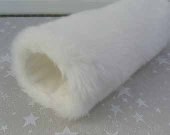 White Faux Fur Hand MUFF, Women's Handmuff, Faux Fur Muff,  Hand Muff, White Rabbit Fur Muff