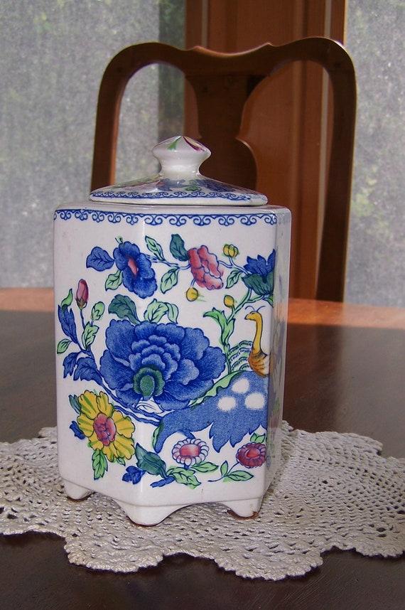 Mason's Tea Caddy Jar Plantation Colonial