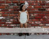 Lace Romper Big Girl's Size XL (3-5) or  Size XXL (6-8) Petti lace Romper Photo Prop 20 colors