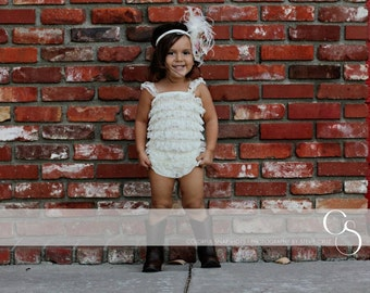 Lace Romper Big Girl's Size XL (3-5) or  Size XXL (6-8) Petti lace Romper Photo Prop 20 colors