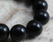 Black Obsidian Beads 8mm Round  - full strand