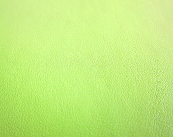 Faux Leather Fabric in Lambskin Pattern - Lime Green - Large Fat Quarter - Vegan Leather