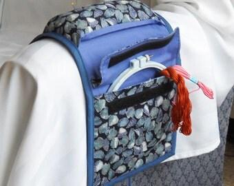 Seashells Armchair Sewing Caddy, HandSewing Organizer