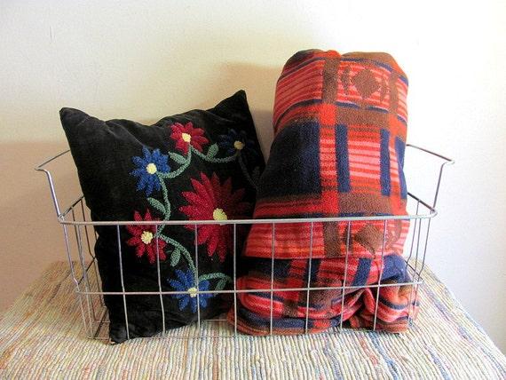 Vintage Wire Metal Basket