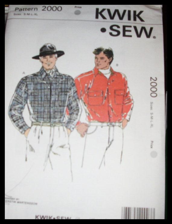 Men's   shirt  pattern 2000, pattern Kwik Sew uncut s,m,l,xl