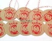 Vintage Yummy Gift Tag Set of 10 -  Food Label - Canning Label - Baking Label