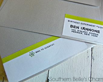 Scientist Address Wraps...Set of 10 Address Wraps.