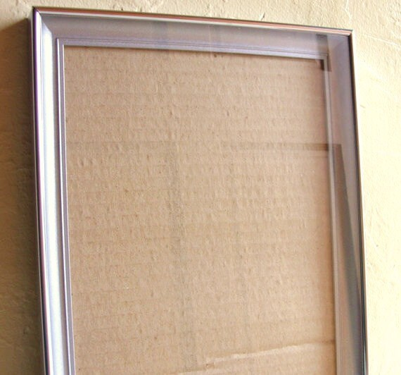 Vintage Silver Metal Shadow Picture Frame and Matting 8x10