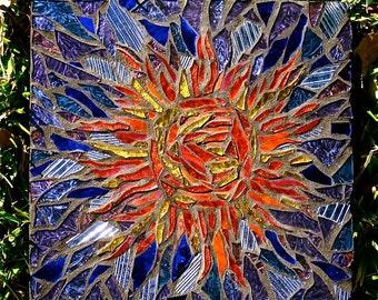 Stunning Sun Mosaic Stepping Stone: Reserved