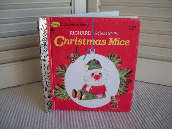 Richard Scarry's Christmas Mice 1965, early edition, First Little Golden Book
