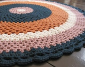 Items Similar To Aggie Crochet Lap Blanket Floor Throw