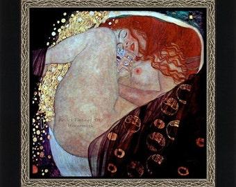 "Gustav Klimt's ""DANAE"" 1907 - Giclee Art Print - Danae Klimt Print - Dreaming - Sleeping Wall Art - Art Nouveau Poster"
