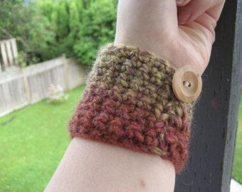 Earthtone Crocheted Wrist Cuff WCU/5/13