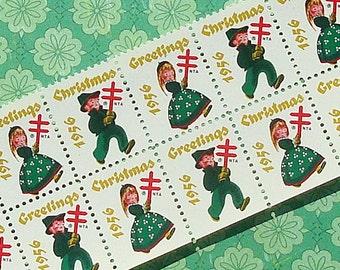 Vintage Christmas Seals 1956 Vintage Paper Ephemera