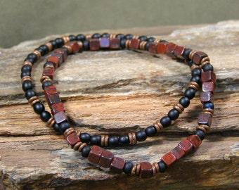 Bracelet for Men, Mans Jewelry, Beaded Bracelet, Southwest Jewelry,  Mens Jewelry, Jasper Bracelet, Mens Bracelet , Stack Bracelet