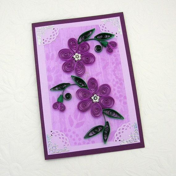 paper quilling greeting card paper quilled