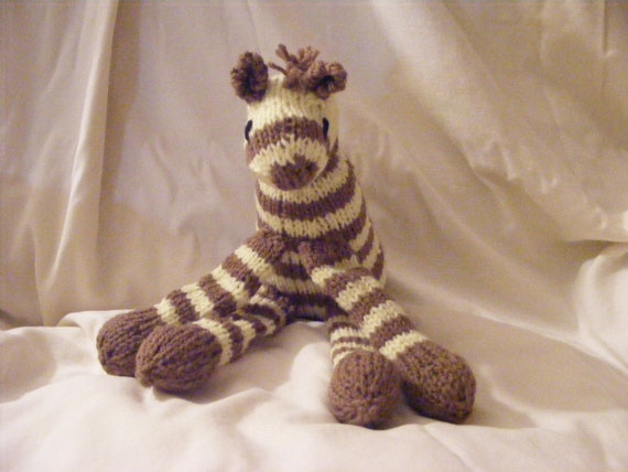 Knitted Punda Milia the Zebra