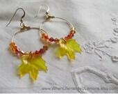 Maple Leaf Autumn Earrings