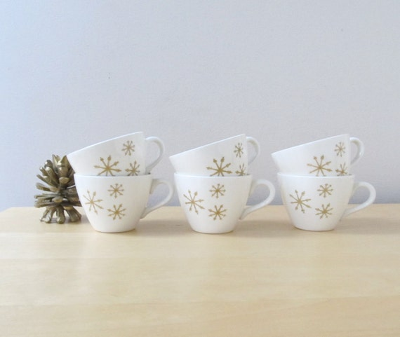 star glow cups, set of six, royal china coffee cups