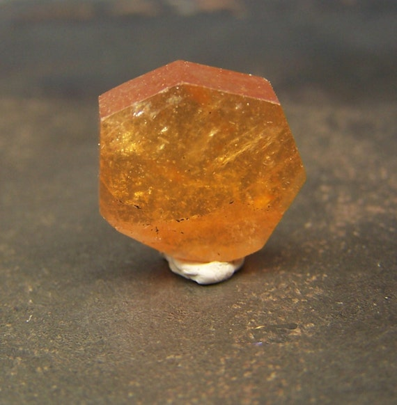 Slice - Orange Garnet - faceted crystal - red orange- Spessartite  - Pakistani - Pakistan - hessionite - wire wrap stone - coyoterainbow
