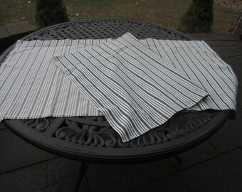 Vintage Mattress/Pillow Ticking blue stripes