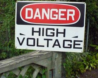 Danger - High Voltage Industrial Sign
