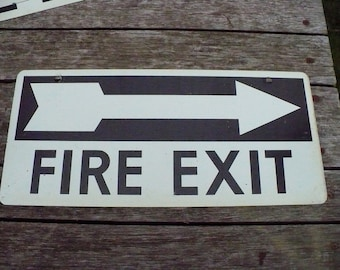 Fire Exit Sign - Exit Right - Two Sided