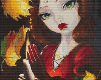 Modern Cross Stitch Art By Simona Candini 'Autumn Magic- Counted Cross Stitch Kit