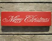 Wood Sign Merry Christmas ON SALE