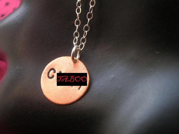 Offensive, Vulgar, C Word Necklace, Slut, Boo You Whore, Azealia Banks, Copper Circle Necklace, Small Charm, Small Charm Necklace, Mature