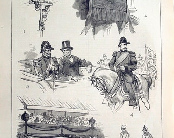 Antique Newspaper Pages on the Funeral of Ulysses S. Grant - 1885 Victorian Newspaper Pages