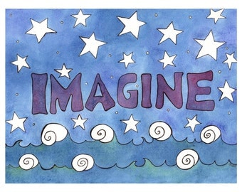 Imagine Note Card - 4 Card Pack