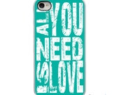 On Sale! All You Need is Love - Choose Color - White or Black iPhone Case - IPhone 4, 4S, 5, 5S,5C Hard Cover -  artstudio54