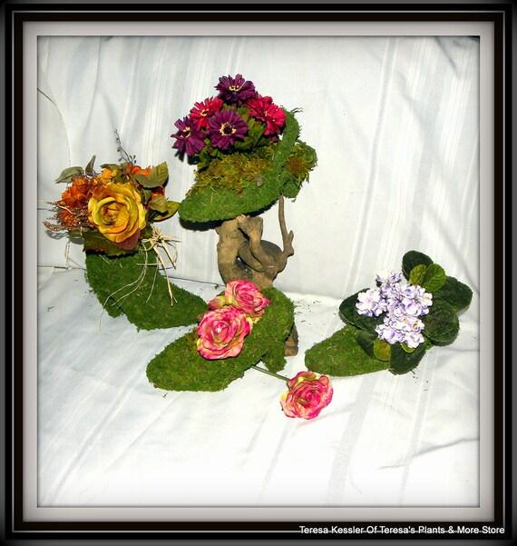 Moss shoe Planters-Shoe Baskets-Moss shoe-Moss boot-Moss planters-Moss pump-Sling back moss shoe