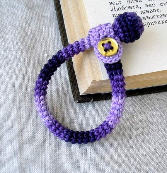 Crochet Baby Bracelet - Newborn Baby Bracelet - Baby Boy Bracelet - Crochet Jewelry - Childrens Bracelet - Cotton Baby Bracelet