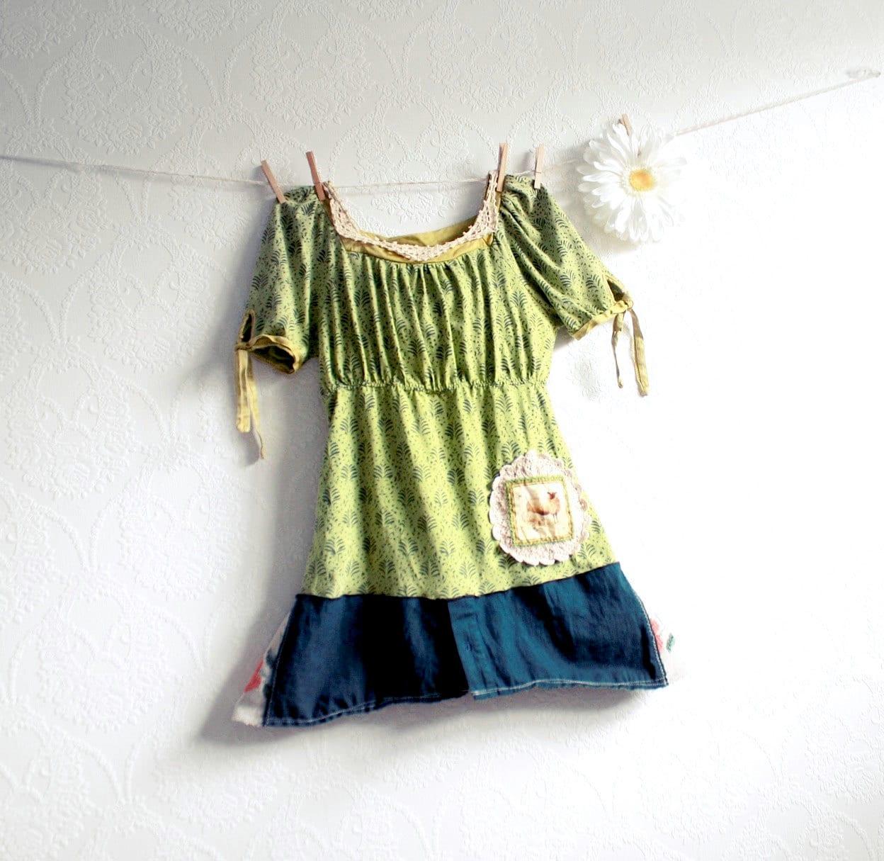 Eco Friendly Clothing Chartreuse Top Green Women's Shirt