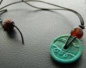 Chinese Turquoise Medallion Pendant