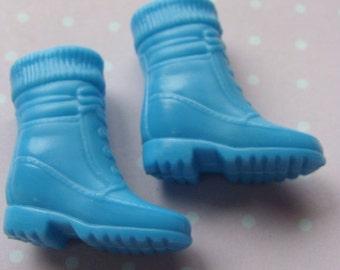 Vintage Blue Doll Boots fit Blythe, Barbie and Pullip