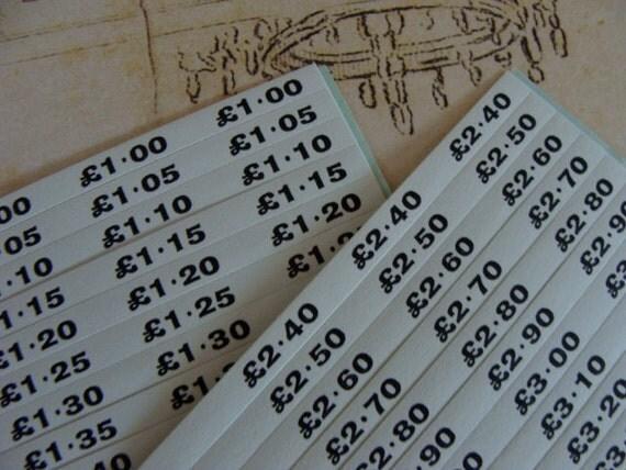 Vintage French Booklet Lira Pound Price tags