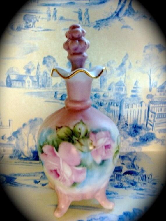 Exquisite Antique Handpainted Signature Porcelain Apothecary Jar