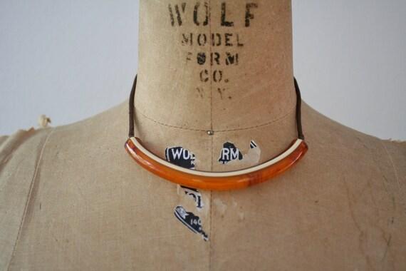 70s vintage necklace : Crescent  Moon