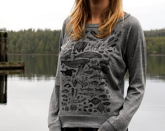 Species on Grey Slouchy Shirt
