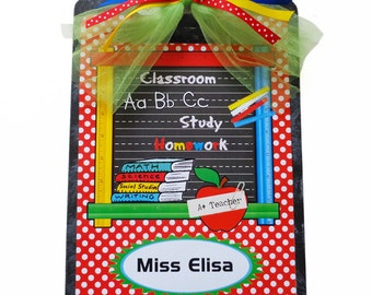 Designer Teacher Gift Clipboard Personalized Rulers