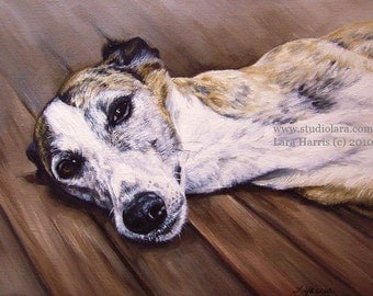 Custom Pet Portrait Dog Painting in Oil by LARA 11x14 or 12x12 Horse