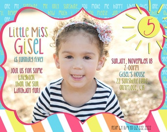 Little Miss Sunshine Photocard-  Digital File Only